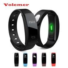 2017 volemer QS80 новые спортивные смарт-браслет сердечного ритма Мониторы Часы Приборы для измерения артериального давления Фитнес трекер smartband для iOS и Android