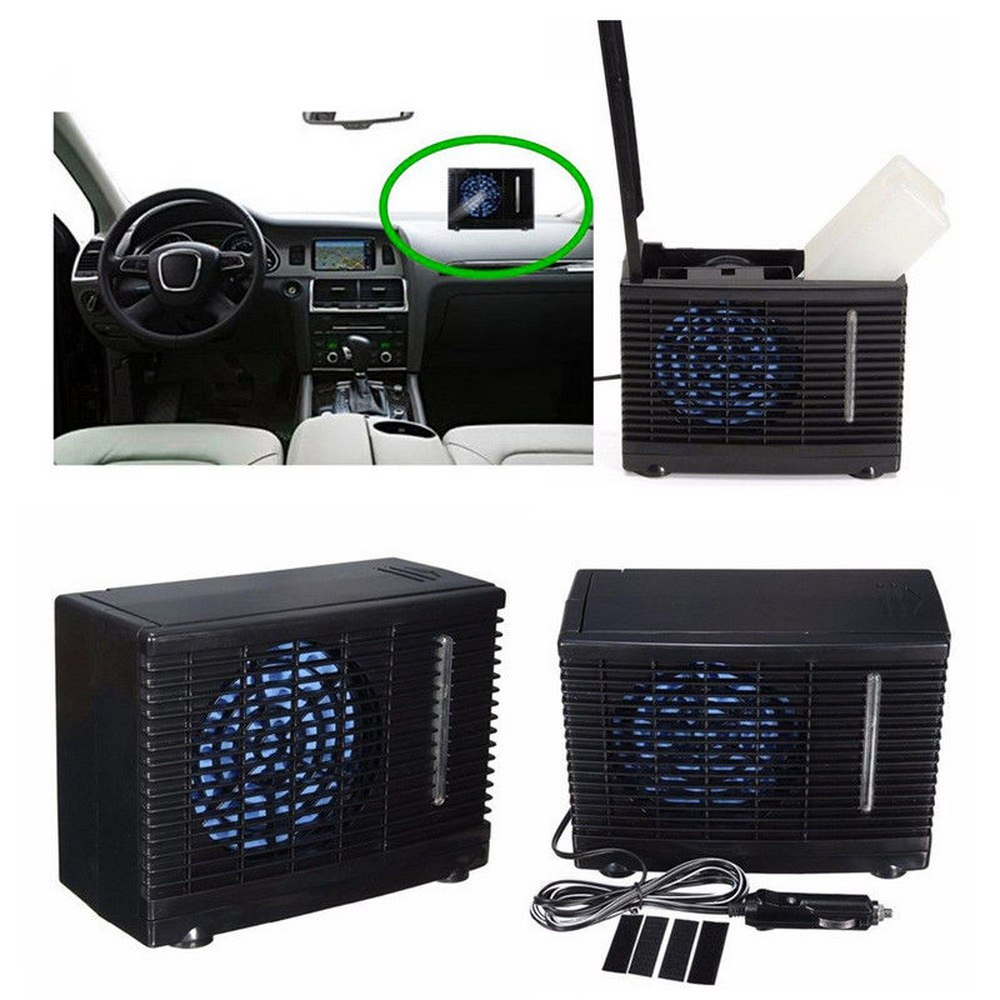 Image 4 - 12V 35W Mini Car Can Add Water Fan 12V Air Conditioning Installation Powered By Car Charger Adapter Car Interiors-in A/C & Heater Controls from Automobiles & Motorcycles
