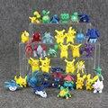 36 Pçs/lote Puxão Ação PVC Figura Dos Desenhos Animados Pikachu Bulbasaur Charmander Squirtle Wartortle Pidgeotto Charmeleon Para Coletar