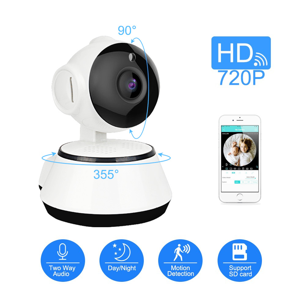 WiFi Mini IP Camera 720P HD Wireless Security Surveillance Camera Audio Record Baby Monitor CCTV Camera Support SD Card ICSEE