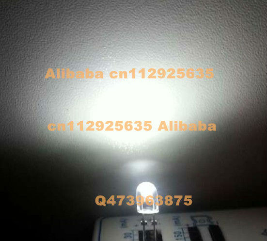 Cool white 5mm led Oval packages 80-90 view angle White display LED 6000-6500K 3.0-3.5V(CE&Rosh)