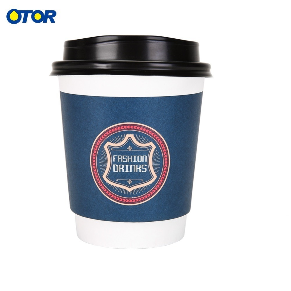 d9babde0c52 10PCS 8oz 12oz 16oz Double Wall Hollow Paper Cup Insulated Coffee Cup  Takeout Drink Cup Cold Hot Coffee Office Paper Cup-in Coffee Cups & Mugs  from Home ...