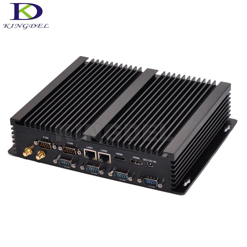 Industrial Computer,Windows10 Mini PC Intel Core I3 4010U/i5 4200U/i7 4500U,Dual LAN HDMI 6*COMRS232,WiFi,USB3.0,3D Game Support