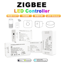 zigbee hub Led controller smart (rgbcct/wwcw/rgbw/dimmer)strip Light Controller DC12-24V LED Dimmer Work with and Echo Plus