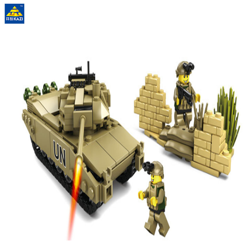 LWKO Military Building Blocks 4 Style DIY Army Classic War Tank Bricks Toys Christmas Gifts For Kids Compatible Legoe City