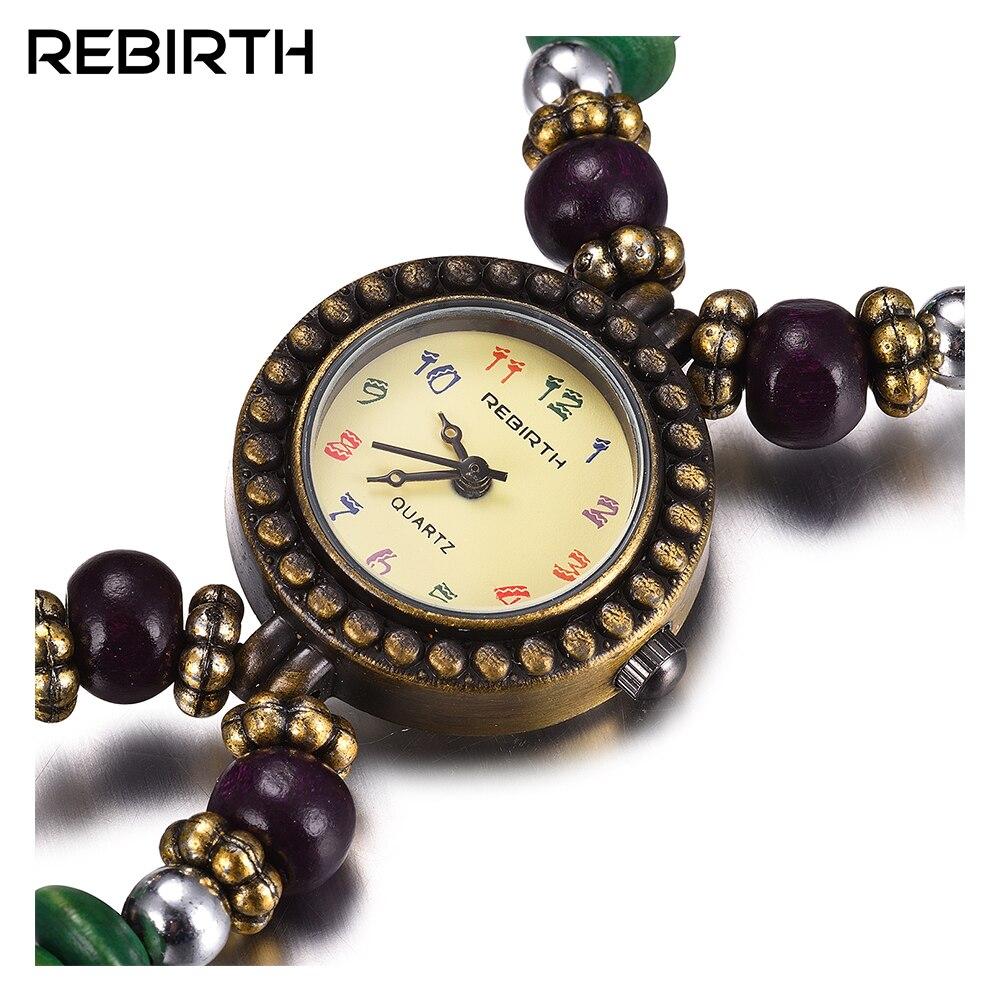 Watches Women REBIRTH Quartz Relojes Fashion Luxury Brand Retro-Style Waterproof Mujer
