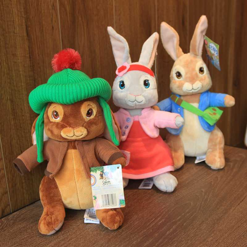 Original 30CM baby Peter rabbits plush Toys anime Benjamin Lily Dolls Bunny for children boys Kids