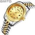 GIMTO Reloj de Oro Hombres de La Moda Del Reloj de Oro Llena de Cuarzo de Acero Inoxidable Relojes Reloj de Pulsera Al Por Mayor Reloj de Oro Los Hombres de Alta Calidad