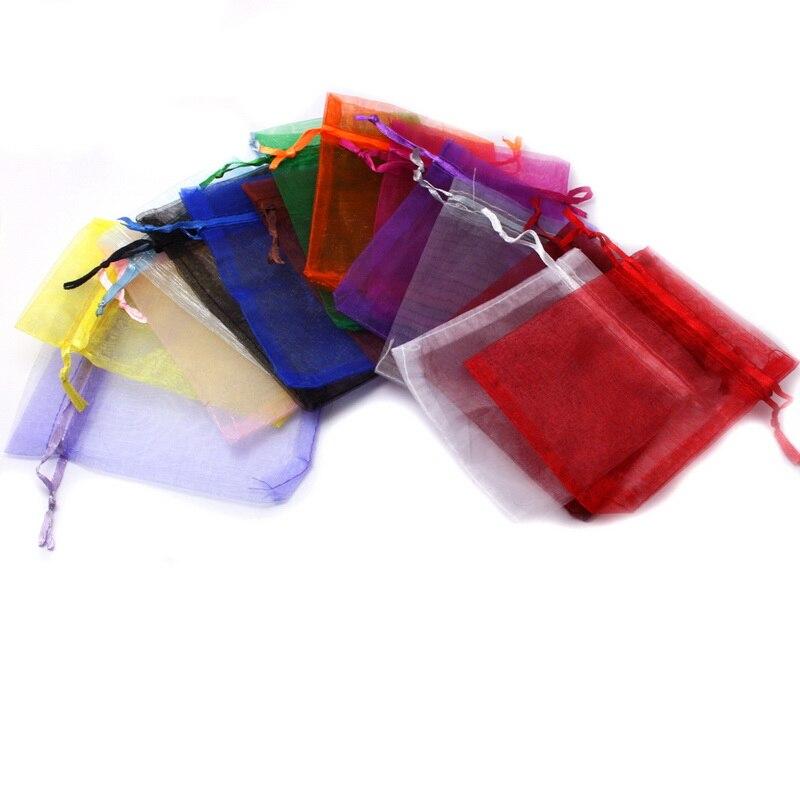 10 шт./лот Свадебная отделка органзы ювелирные сумки смешанные цвета конфеты подарочные сумки для вечеринки Рождество Свадебные сувениры уп...