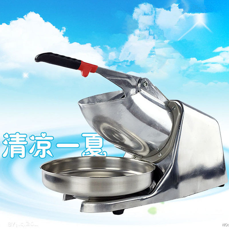 2016 new generation powerful 220v electric ice crusher summer home use milk tea shop drink small commercial ice sand machine ZF ice crusher summer sweetmeats sweet ice food making machine manual fruit ice shaver machine zf