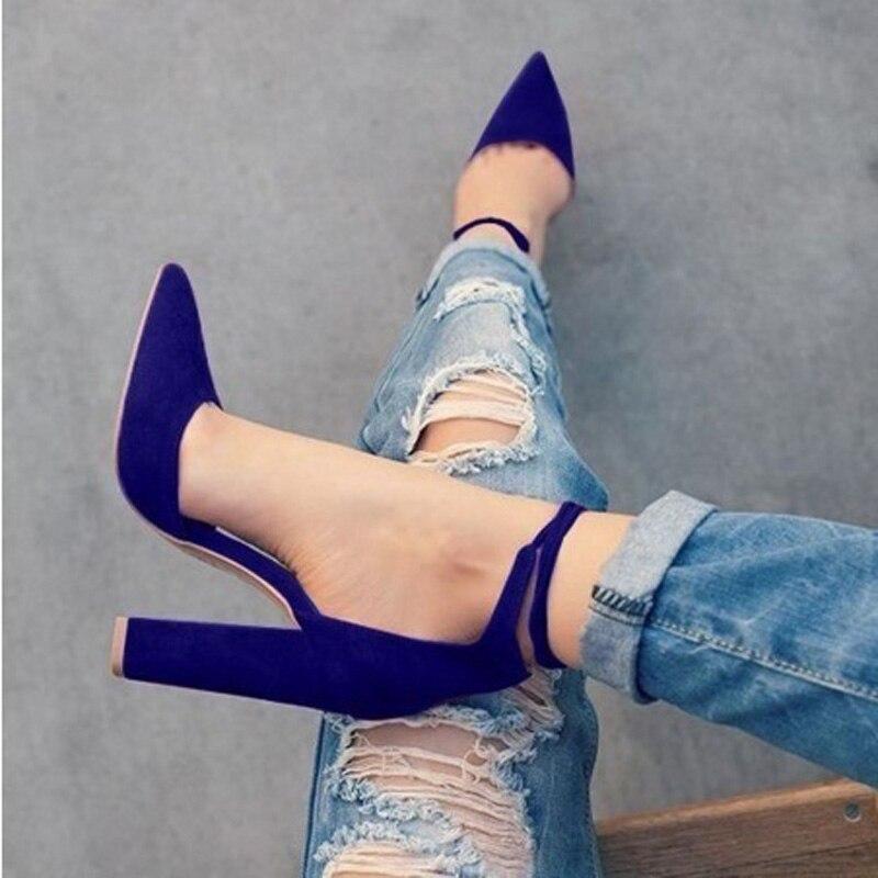 Punta Y Superficial Básico Nuevas gray Bombas Estrecha Moda Black navy Blue wine Calzado Oficina Carrera Estilo Primavera Retro luose Mujeres Zapatos 2017 Tacones Red Mujer nX6zwS57