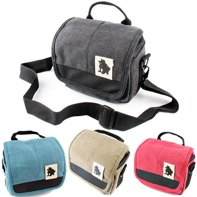 Canvas Camera Bag Case Cover For Sony Alpha A7 Mark II S R A77 A7III A6500 A6300 A6000 A5100 NEX6 H400 HX400 HX300