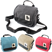Canvas Camera Bag Case Cover Voor Sony Alpha A7 Mark Ii S R A77 A7III A6500 A6300 A6000 A5100 NEX6 h400 HX400 HX300