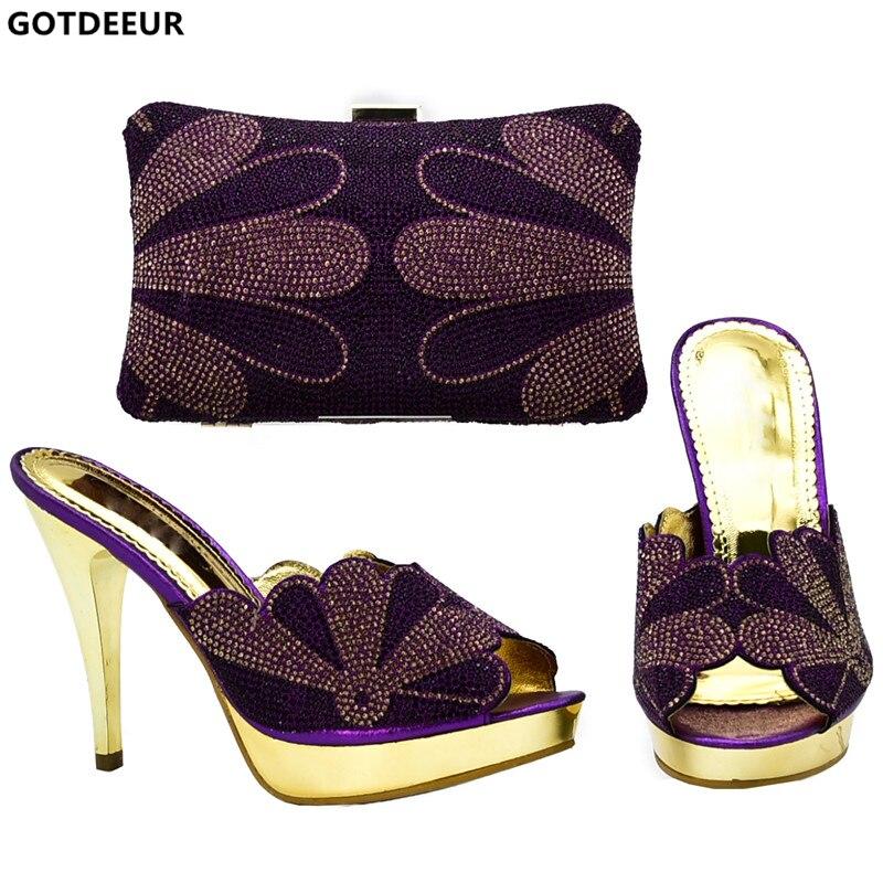 Italiano Boda oro Bolsos Africanas Llegada Diamantes Con Zapatos Nueva green Bolso purple A De Decorado wine Juego Negro Y Mujeres Las Imitación 5nanHxwSq