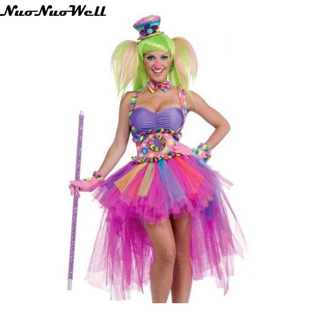 Payaso de circo traje Halloween carnaval fiesta ropa mujer adulta ...