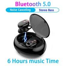 TWS سماعة لاسلكية تعمل بالبلوتوث 5.0 سماعات IPX5 مقاوم للماء في الأذن واقي أذن رياضي للهواتف الذكية سماعة استيريو ومايك سماعات بلوتوث xiomi