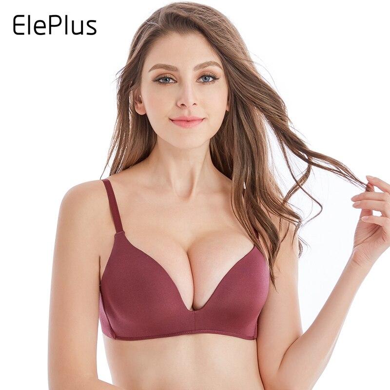 Eleplus Sans Soudure Bras pour Femmes Push Up Bras Pas Fil Soutien-Gorge A B Tasse de Sous-Vêtements