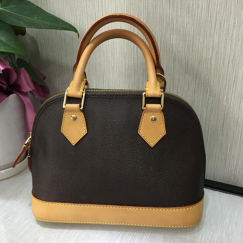 2018 New Luxury Brand ALMA BB Bag Women Top Quality Tote Designer Monogram Ebene Leather Shell Handbags Free Shipping DHL 25CM brand new e3ra tp11 d with free dhl page 2