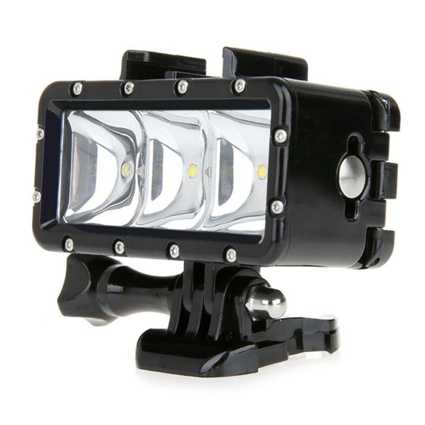 30m 3 LED Underwater Waterproof Diving Dimmable Light Lamp for Gopro Hero 3 3 4 Sport