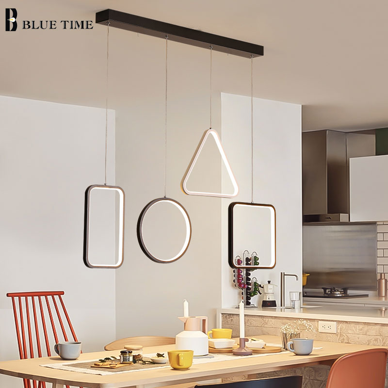 все цены на New Arrival Modern LED Pendant Light For Dining room Kitchen Restaurant Lamp Simple Geometric Shape Led Pendant Lamp Hang Lamp
