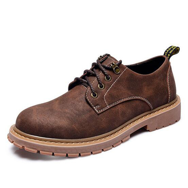 Men Plus Size Shoes 45 British Men Casual Scrub Shoes Flats Fall Fashion Loafers Male Logging Shoes Height Increased