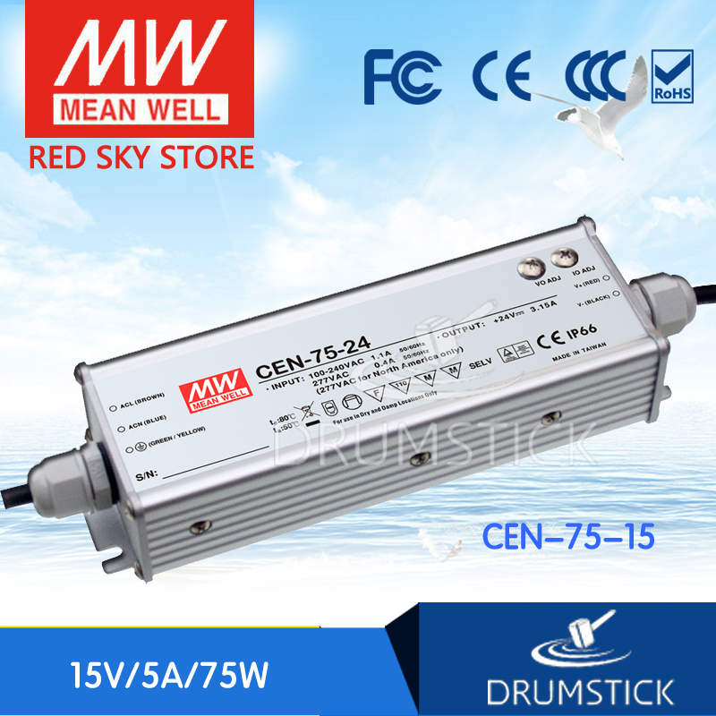 Advantages MEAN WELL CEN-75-15 15V 5A meanwell CEN-75 15V 75W Single Output LED Power Supply free shipping 10pcs ad807a 155br ad807a