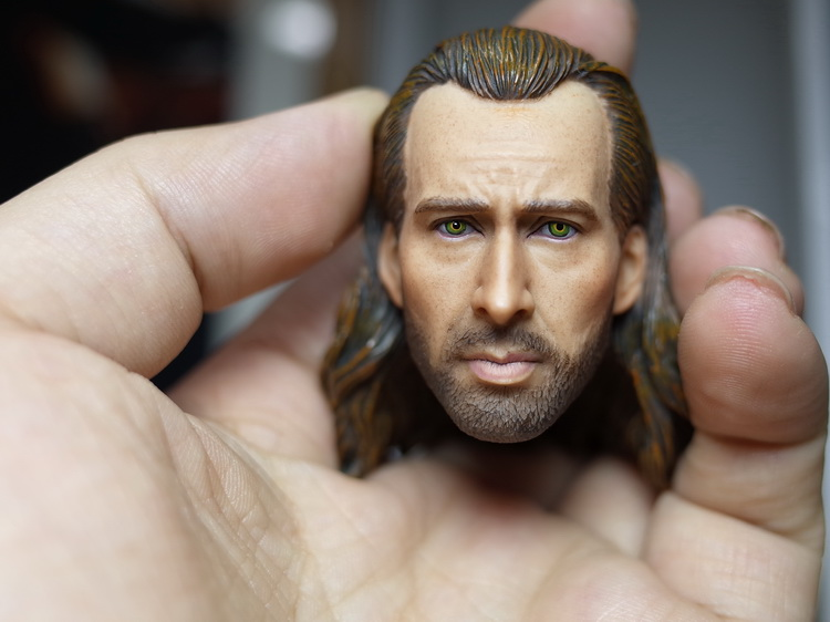 1/6 Scale Con Air  Nicolas Cage Head Sculpt Carved for   12 Inches Male Bodies Figures Gifts Brinquedos   Collections 1 6 scale wolverine 3 hugh logan head sculpt clone version with short hair for 12 inches male bodies dolls figures gifts toy