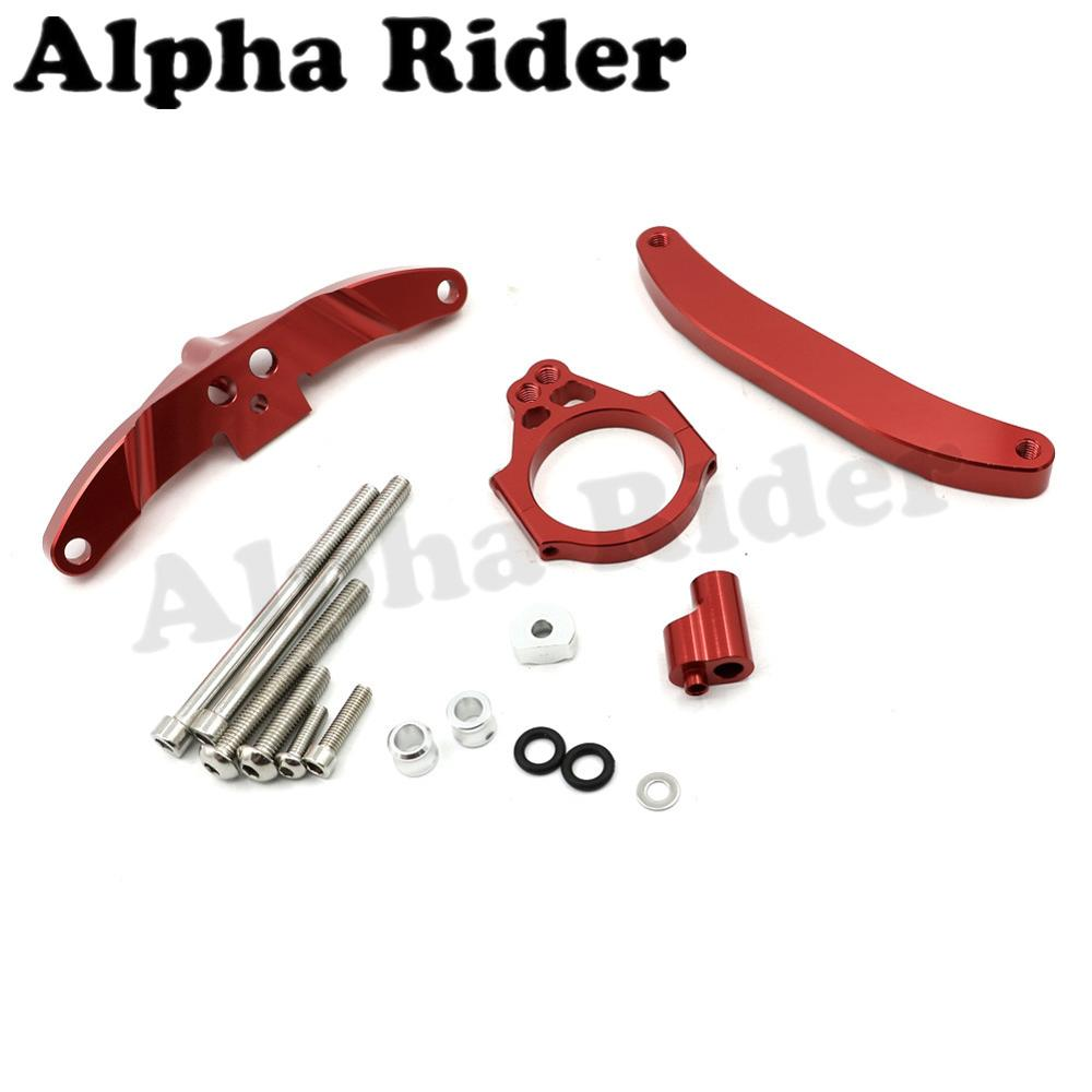 Red CNC Direction Steering Damper Stabilizer Bracket Kits for Yamaha FZ1 FAZER 2006-2015 2014 2013 2012 2011 2010 2009 2008 2007 motorcycle mounting bracket kit for yamaha fz1 fazer 2006 2015 2007 2008 2009 2010 2011 2012 2013 2014
