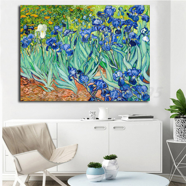 Irises By Vincent Van Gogh Wall Art Canvas Poster And Print Canvas ...