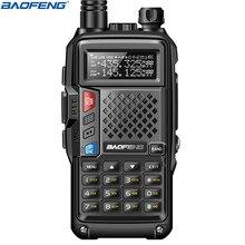 BaoFeng BF-UVB3 Plus 8 Вт мощная рация cb ham двухстороннее радио 128CH 136-174Mhz& 400-520Mhz 10 км большой диапазон обновления UV 5R