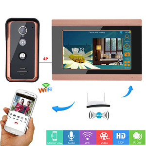 Image 1 - MAOTEWANG 7inch Wifi Wireless  Video Doorbell Intercom Entry System with  HD 1000TVL Wired Camera picture records