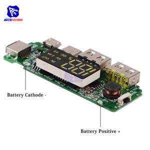 Image 4 - LED Dual USB 5V 2.4A Micro/Type C/Lightning USB Power Bank 18650คณะกรรมการชาร์จOvercharge overdischargeป้องกันการลัดวงจร