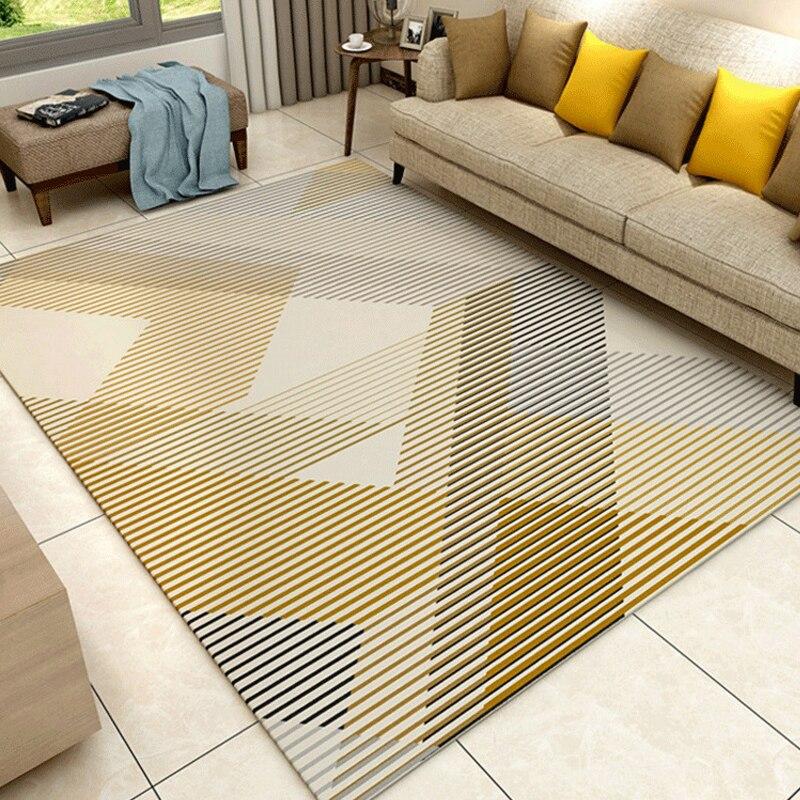 Modern Style Stripe Carpet For Living Room Bedroom Super Soft Home