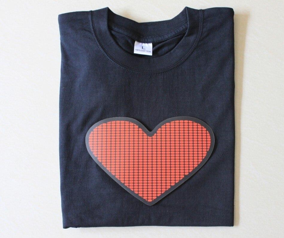 Unpick and wash t-shirt luminous t-shirt music t-shirt flash clothes