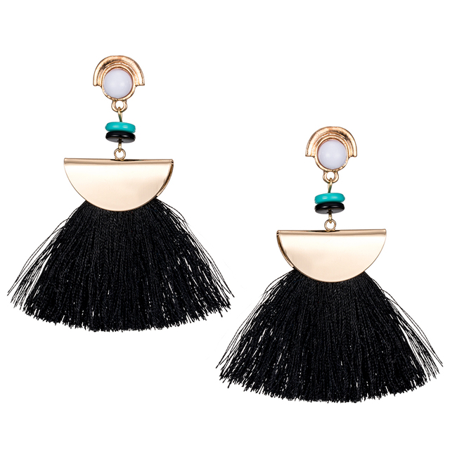 KISS WIFE 2017/Brand Drop Earrings For Women Bohemian Ethnic Big Long Tassel Earrings Wholesale Fashion Jewelry Style Earrings F 3