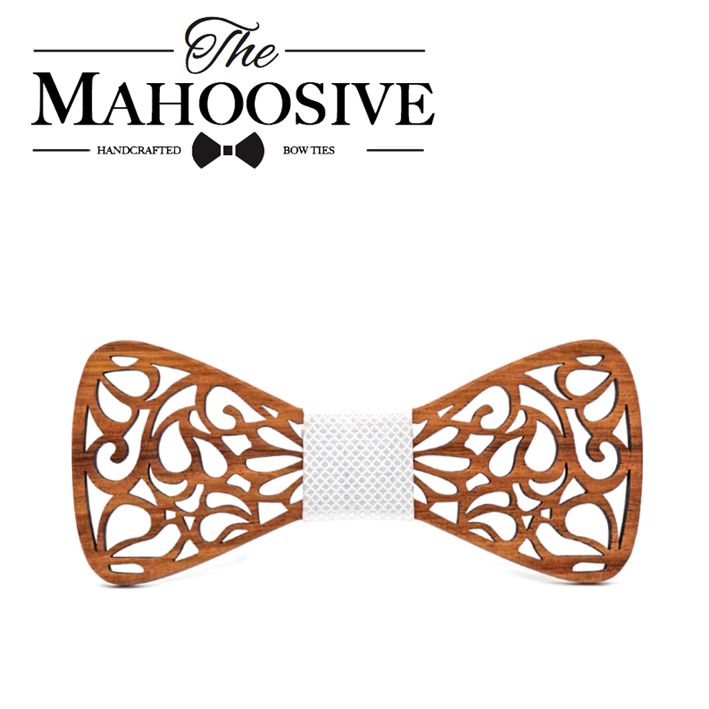Mahoosive New Floral Wooden Bow Ties for Males Bowtie Hole Butterflies Marriage ceremony go well with picket bowtie Shirt krawatte Bowknots Slim tie HTB1Q769ueuSBuNjSsziq6zq8pXaO