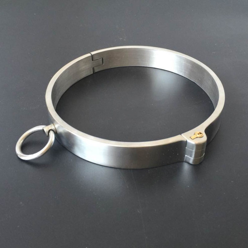 New Stainless Steel Neck Collar Bondage Lock Slave BDSM Restraints Posture Collar Adults Games Products Sex