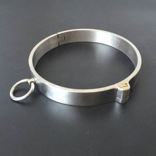 лучшая цена New Stainless Steel Neck Collar Bondage Lock Slave BDSM Restraints Posture Collar Adults Games Products Sex Toys For Couples