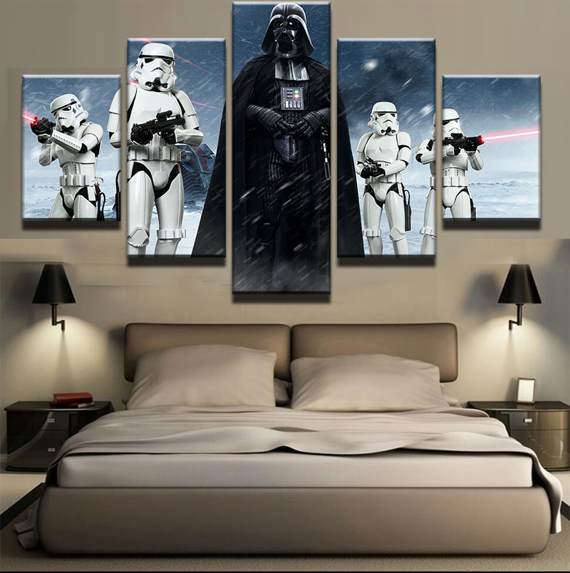 5 pieces star wars black knight imperial stormtrooper for Imperial home decor