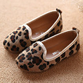 2017 Spring Horse Hair Baby Girl Shoes Leopard Toddler Girls Ballet Shoes Slip On Children Casual Shoes Flat With Kids Loafers