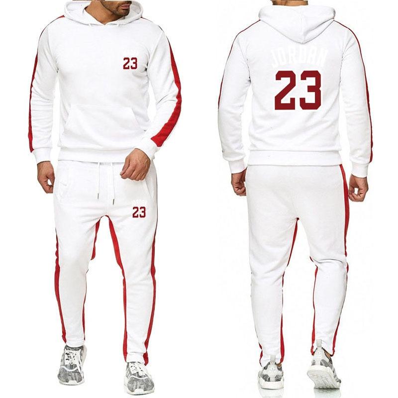 OLOEY Mens Sweat Suits Tracksuit Men Jordan 23 Joggers Running Male Set Fitness Sportswear Fashon Training Sportsuits Streetwear