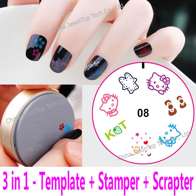 3 in 1 Silicon Gel Stamping Template Nail Art Tools Stamping Plate ...