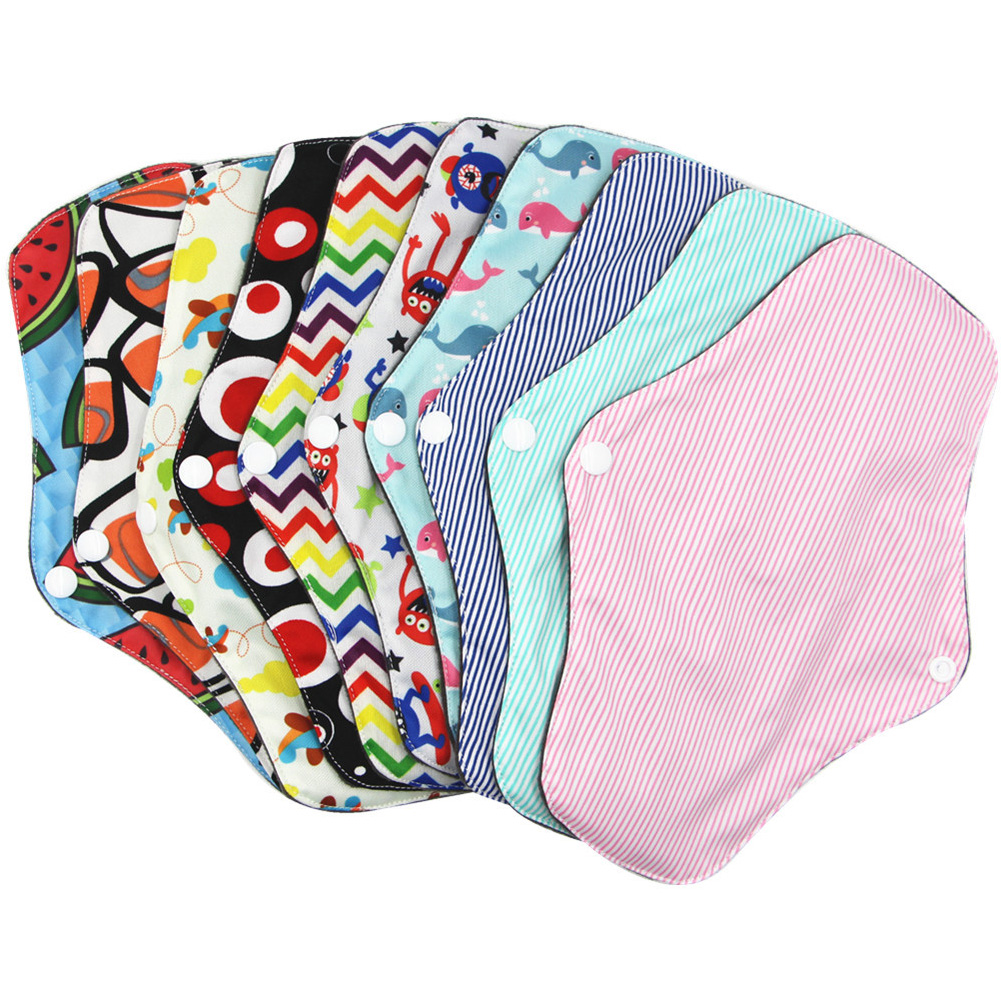 Washable Sanitary Napkin Bamboo Women's Menstrual Cloth Sanitary Diaper Reusable Life Underpants Lining Cloth Menstruation Pad