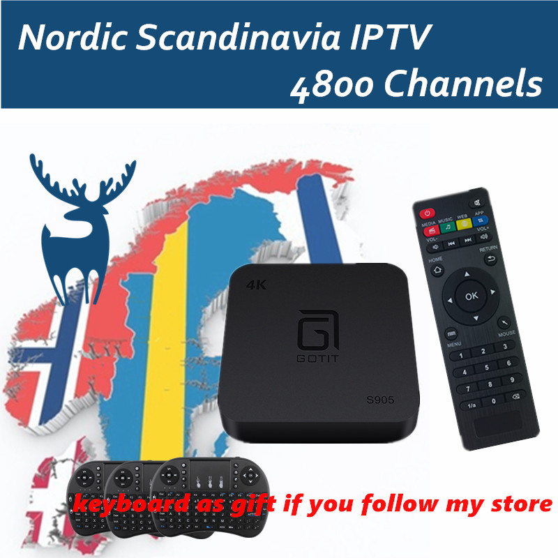 Android TV Box Android6.0 S905X With Free IPTV Subscription Israel Swedish Nordic Scandinavia Canada USA smart tv box