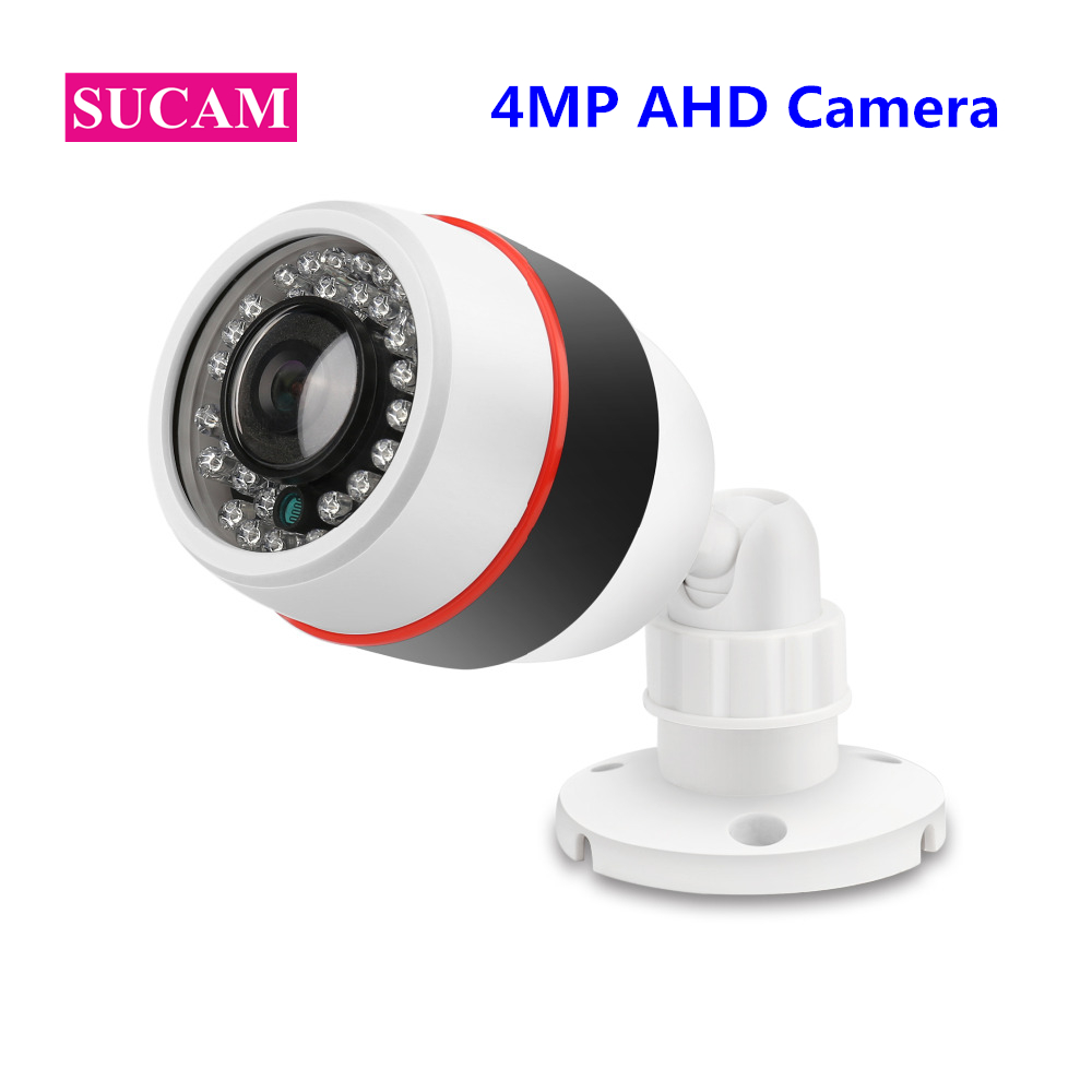 SUCAM Outdoor 180 360 Degrees Panaromic Security AHD Camera 4MP Infrared Night Vision Video Surveillance Cameras 20 Meters IR sucam 1 0mp home ahd security camera 720p 20 meters ir nano led light infrared ir surveillance camera pal ntsc easy installtion