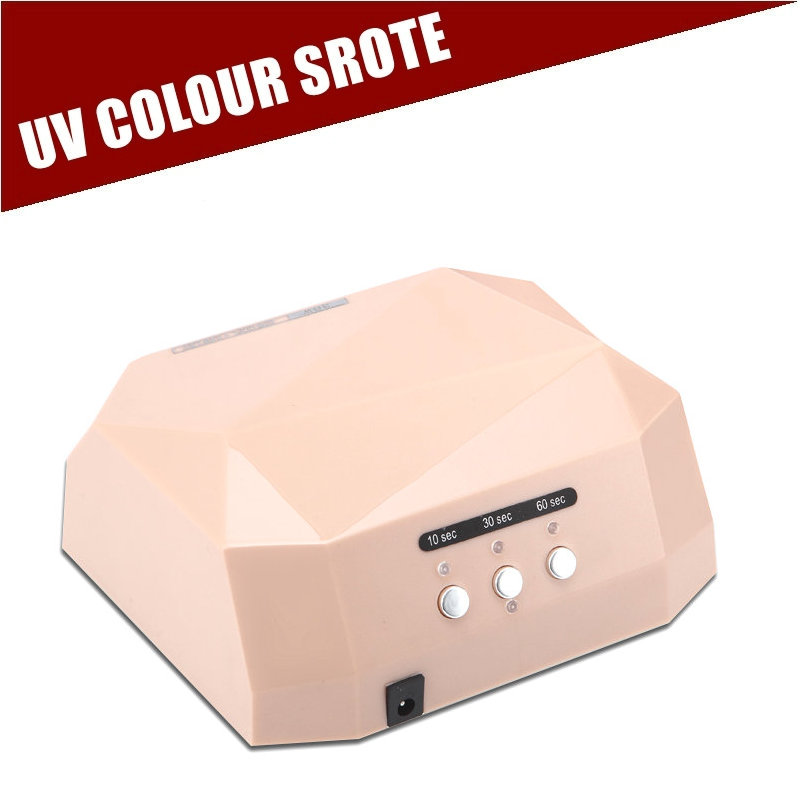 Nail Dryer FREE SHIPPING LED Lamp 36W gel machine dry nails Diamond Shaped Curing Nail