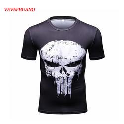 VEVEFHAUNG Каратель череп футболка с привидением Для мужчин Каратель черный летние шорты рукавом футболки Каратель Костюмы для косплея