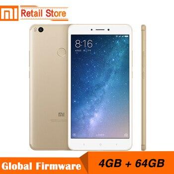 Original Xiaomi Mi Max 2 4GB RAM 64GB 6.44 Display Snapdragon 625 Octa Core Mobile Phone Max2 12.0MP 4K Camera IMX386 5300mAh visa