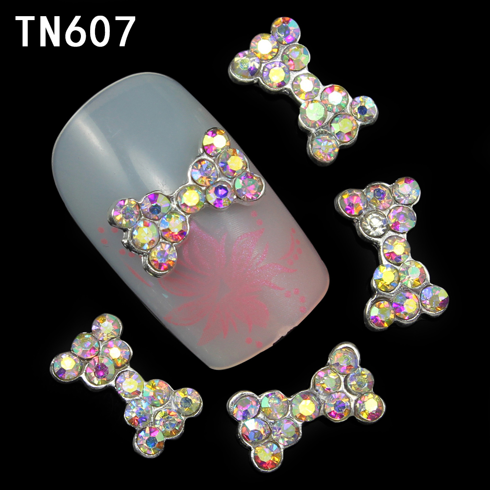 10pcs 3d nail art bow decoration alloy rhinestone for 3d nail art decoration