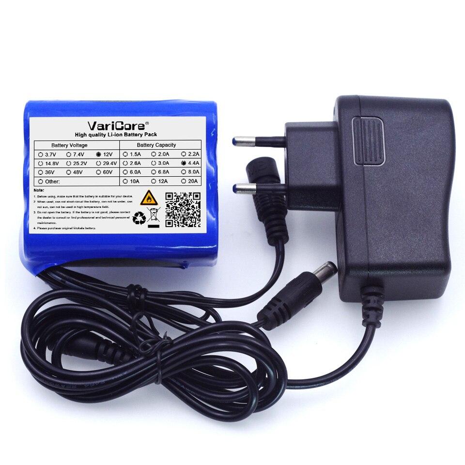 12 b 4.4 Ah 4400 mAh 18650 12.6 V + PCB; protection de batterie au Lithium + chagrer 12V1A (ue/US)